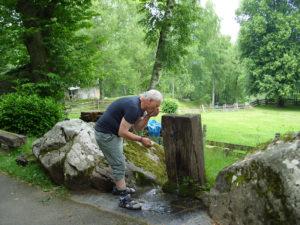 Trinkpause in Lourdes